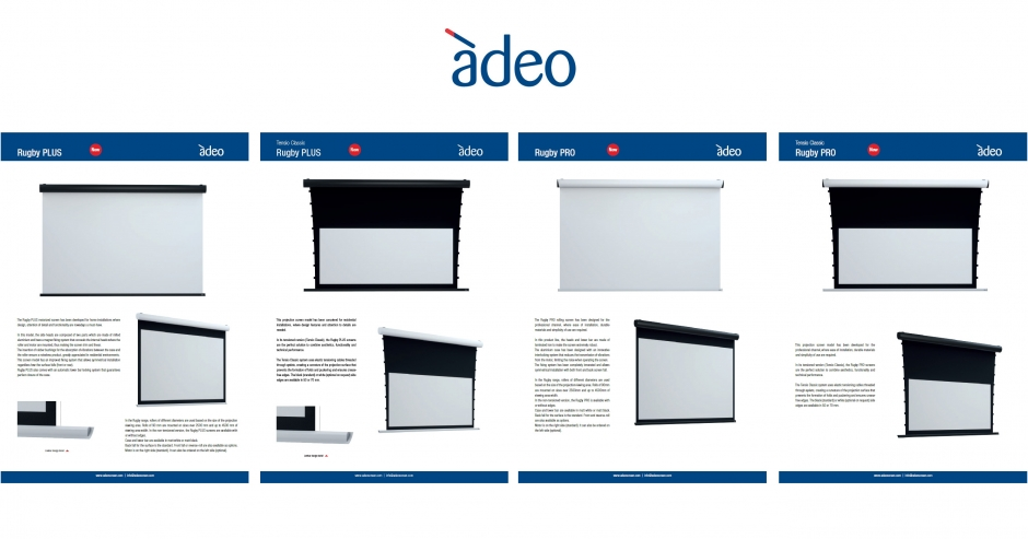 Adeo Screen: Karty katalogowe Adeo Rugby Plus / Adeo Rugby Pro [.PDF ENG]