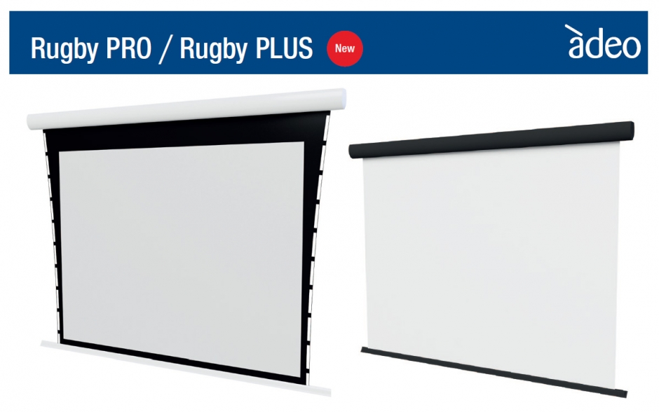 Adeo Screen: Nowe ekrany projekcyjne Rugby PRO / Rugby PLUS