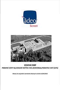 Cennik Adeo Screen 03/2021