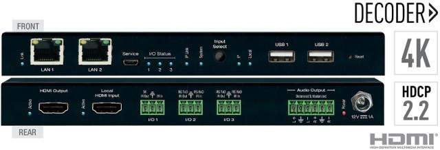 Dekoder HDMI over IP 4K ze switchem LAN oraz separacją audio KD-IP922DEC