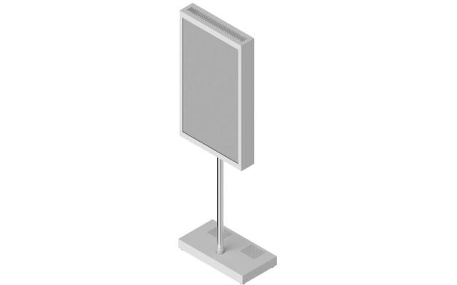 Stand podłogowy do ekranu LED/LCD STD25 z obudową