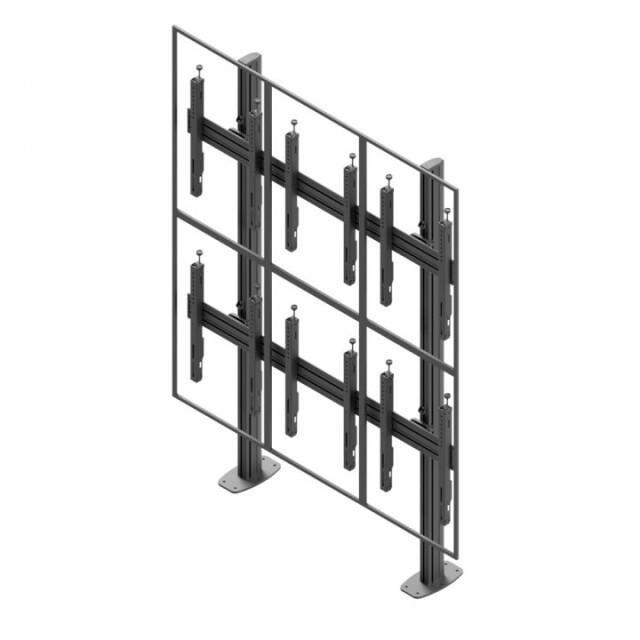 Videościanka stacjonarna, układ pionowy 2x3 VWSA3257-P