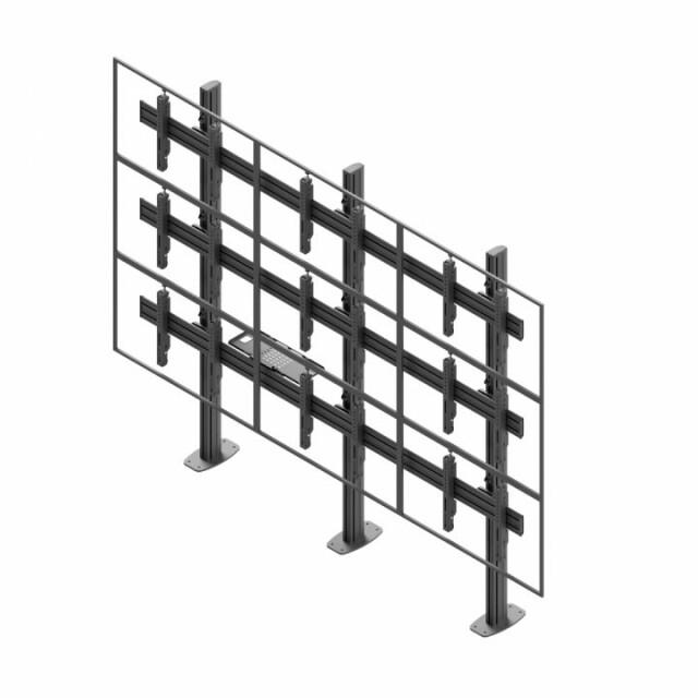 Videościanka stacjonarna, układ poziomy 3x3 VWSA3347-L