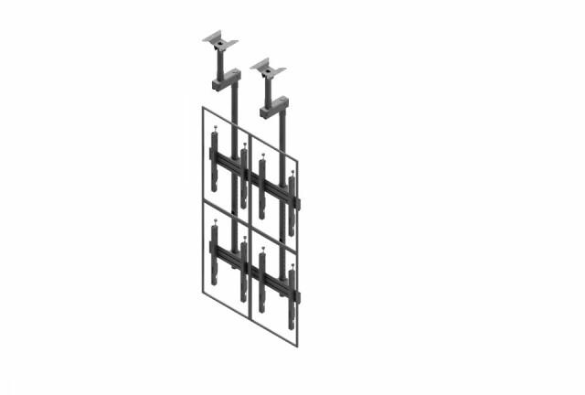 Videościanka sufitowa, układ pionowy 2x2 VWCA2247-P