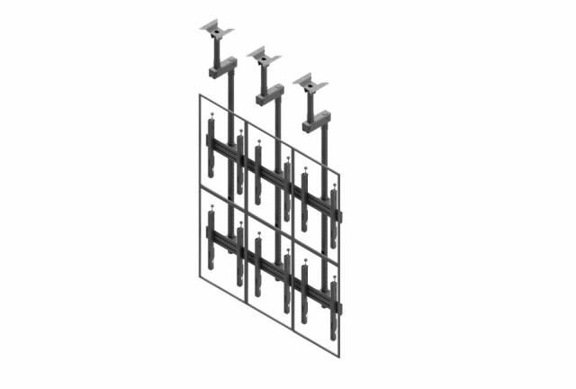 Videościanka sufitowa, układ pionowy 3x2 VWCA3247-P