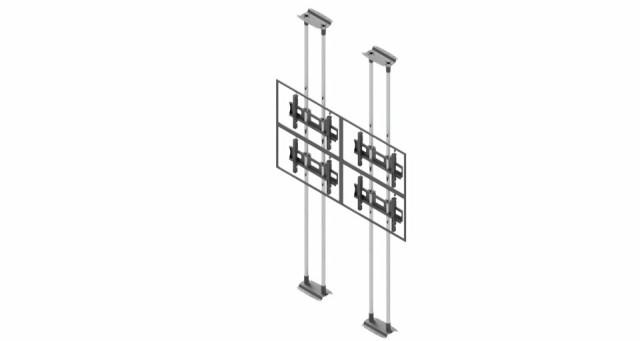 Videościanka typu sufit-podłoga, układ poziomy 2x2 VWFCA2247-L