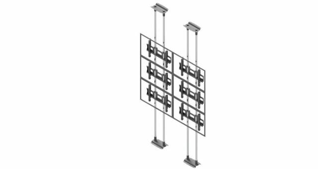Videościanka typu sufit-podłoga, układ poziomy 2x3 VWFCA2357-L