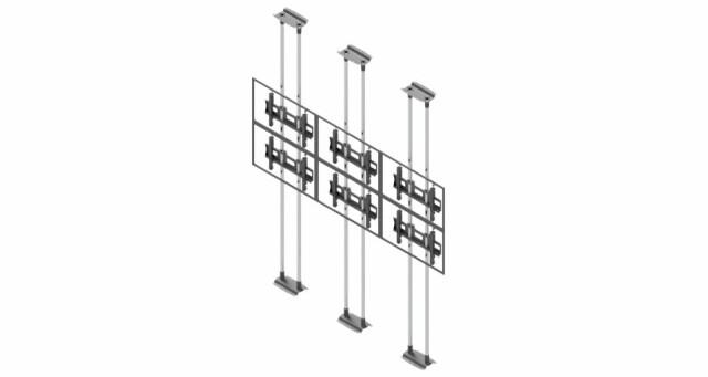 Videościanka typu sufit-podłoga, układ poziomy 3x2 VWFCA3257-L