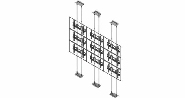 Videościanka typu sufit-podłoga, układ poziomy 3x3 VWFCA3347-L