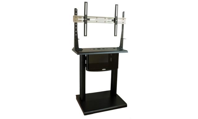 """Stand podłogowy PLATEA z szafą rack 19"""" - 11000"""