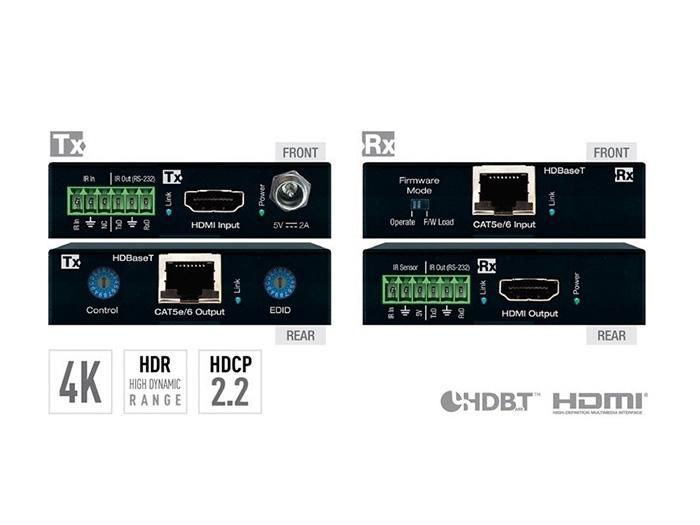 Key Digital Bestseller - Profesjonalny ekstender HDMI po skrętce KD-X222PO z zasilaniem odbiornika Power Over HDBaseT