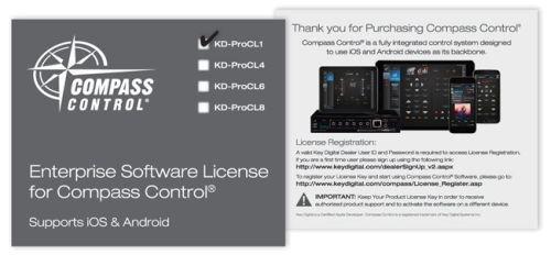 Licencja oprogramowania Compass Control dla systemu iOS lub Android KD-ProCL1
