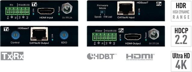 Ekstender HDMI/HDBaseT 4K HDCP 2.2, HDR KD-X222