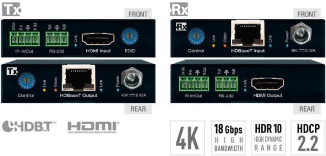 Ekstender 4K/18G/444/60Hz POH/HDBT/HDMI KD-X444S