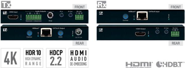 Ekstender 4K POH/HDBT/HDMI KD-X422POA + deembedder audio