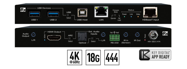 Ekstender 4K/18G HDBaseT Rx KD-X100MRX