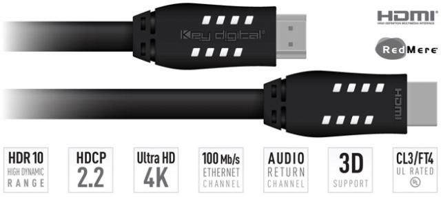 KD-Pro40 4K HDR Przewód HDMI 12,2m