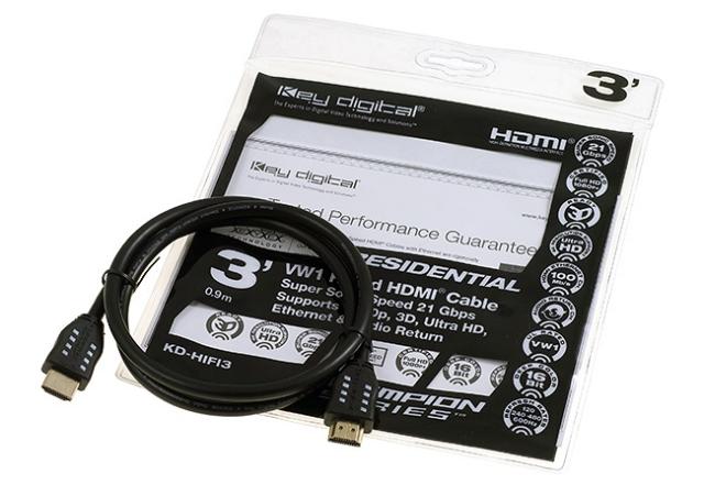 KD-HIFI03 Przewód HDMI 0,9m