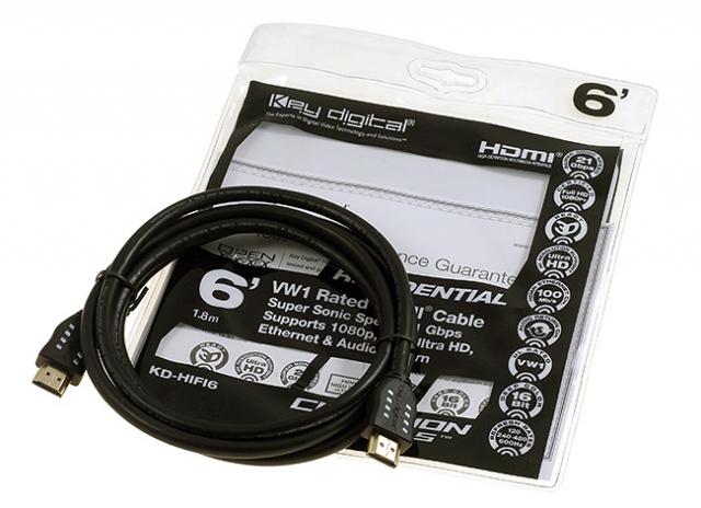 KD-HIFI06 Przewód HDMI 1,8m