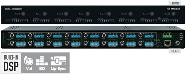 Matryca audio z wbudowanym procesorem DSP KD-MAX8x8