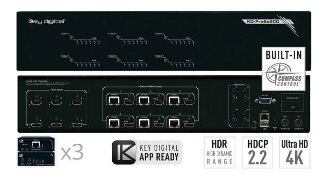 Matryca HDMI/HDBaseT 4K KD-Pro6x6CC