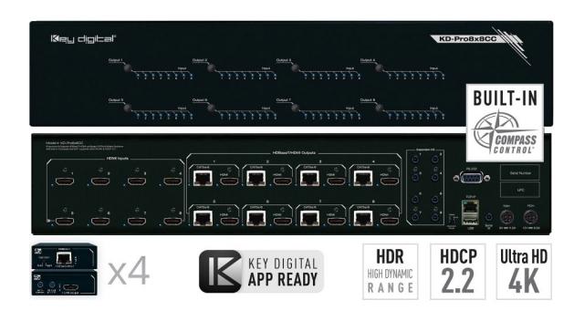 Matryca HDMI/HDBaseT 4K KD-Pro8x8CC