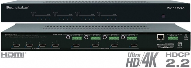 Matryca HDMI 4x4 Audio Deembedder 4K KD-4x4CSA
