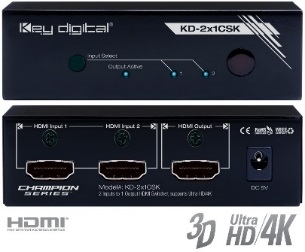 Switch HDMI 4K KD-2x1CSK