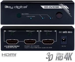 Switch HDMI 4K KD-2x1CSK