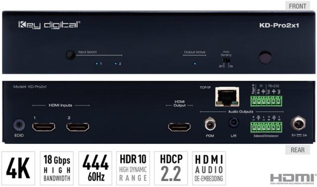 Switch HDMI 4K KD-Pro2x1