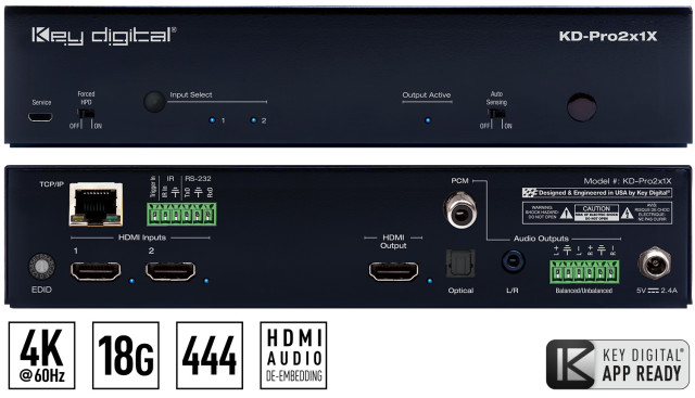 Switch HDMI 4K KD-Pro2x1X