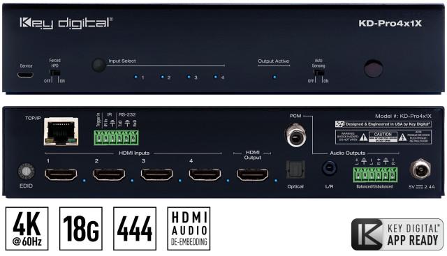 Switch HDMI 4K KD-Pro4x1X
