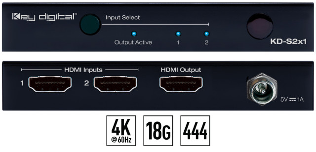 Switch HDMI 4K HDCP KD-S2x1