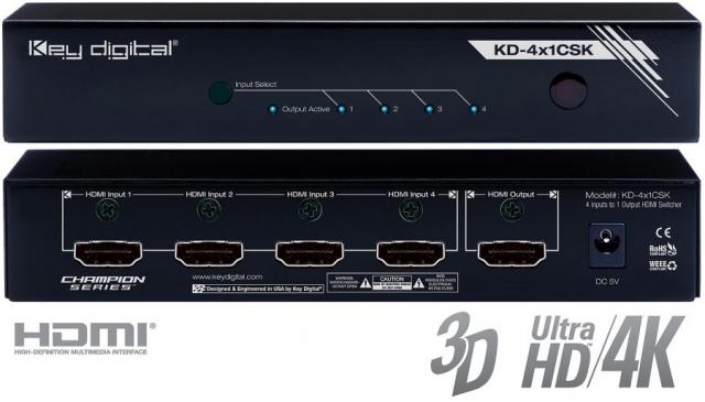Switch HDMI 4K KD-4x1CSK