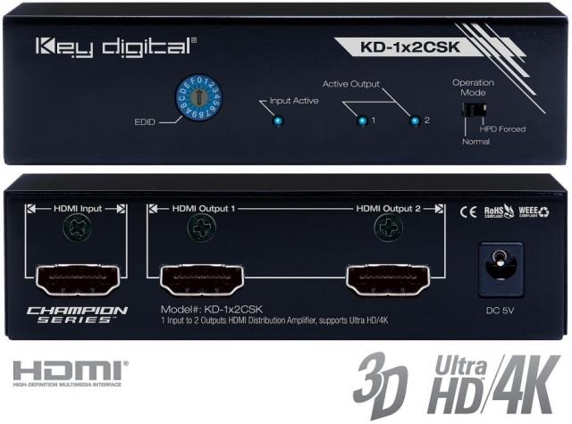 Spliter HDMI 4K KD-1x2CSK