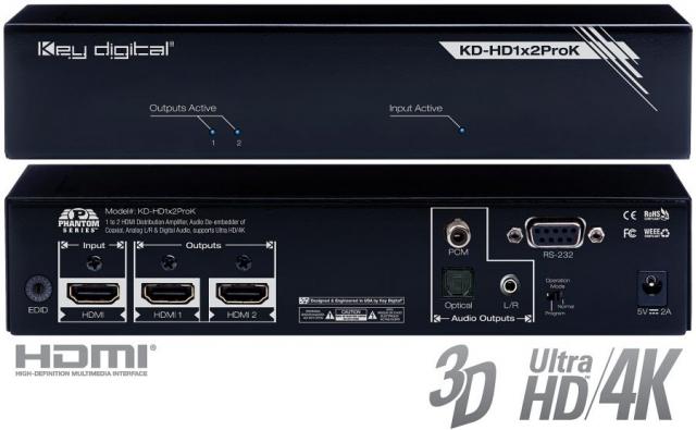Spliter HDMI Pro 4K KD-HD1x2ProK