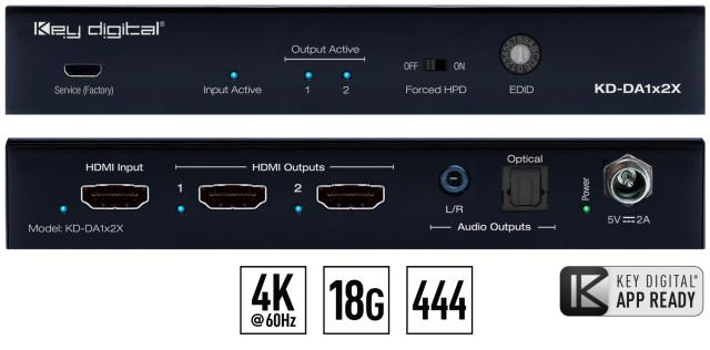 Spliter HDMI 4K KD-DA1x2X