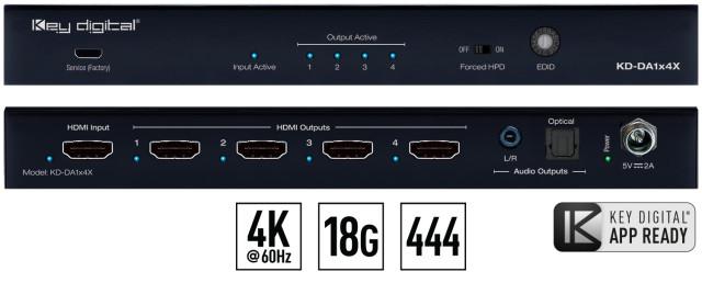 Spliter HDMI 4K KD-DA1x4X