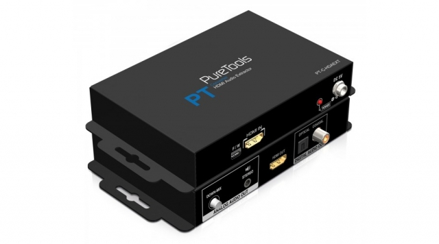 PureTools HDMI Audio Deembedder z downmix PT-C-HDAEXT