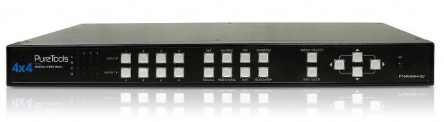 Przełącznik matrycowy HDMI 4x4 QuadView - PT-MA-HD44-QV