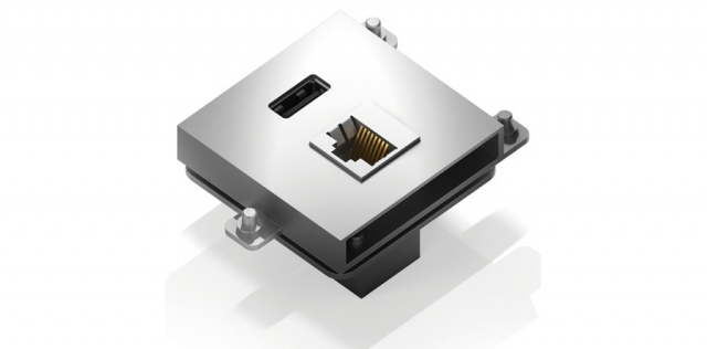 Gniazdo LAN + USB