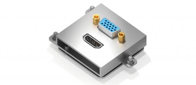 Gniazdo HDMI + VGA