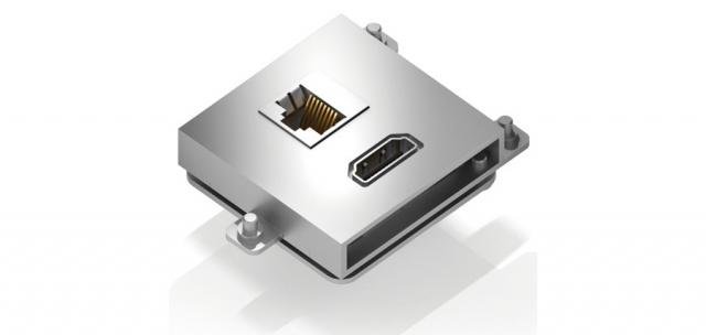 Gniazdo LAN + HDMI