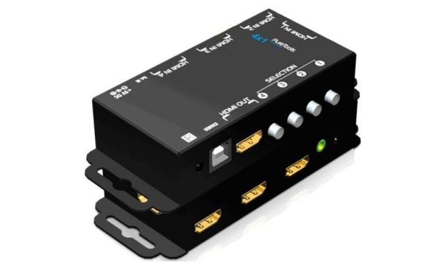 Przełącznik HDMI 4x1 4K 18 Gb / s z funkcją TMDS Auto Sense - PT-SW-HD41E