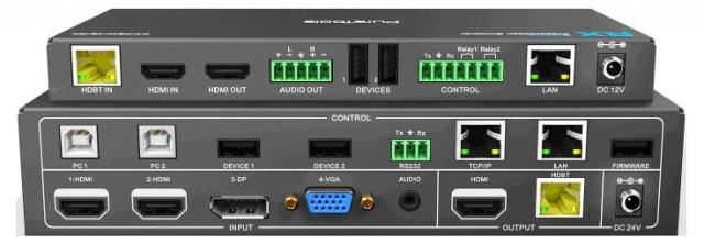 Przełącznik prezentacyjny 4x2 incl. Scaler and PoH - PT-PSW-42