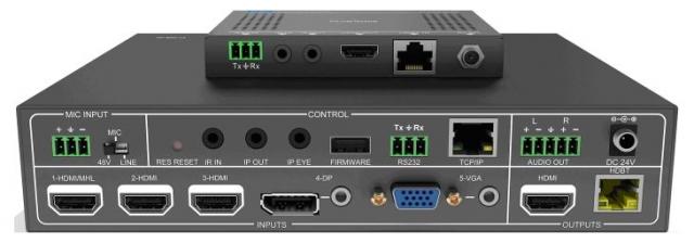 Przełącznik prezentacyjny 5x2 incl. Scaler and PoH - PT-PSW-52