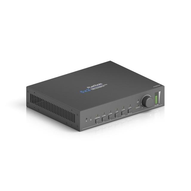 Wieloformatowy bezszwowy przełącznik prezentacyjny 5x2 ze skalerem - PT-PSW-52H