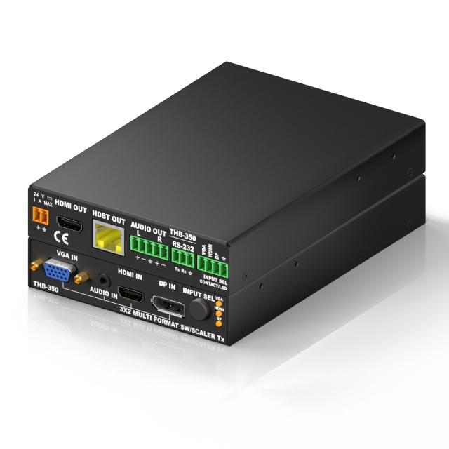 Wieloformatowy przełącznik prezentacyjny 3x2 z HDBaseT - LU-THB-350