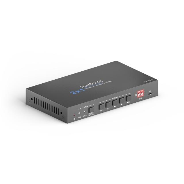 Wieloformatowy przełącznik telekonferencyjny 2x1  4K 18Gbps - PT-PSW-21C