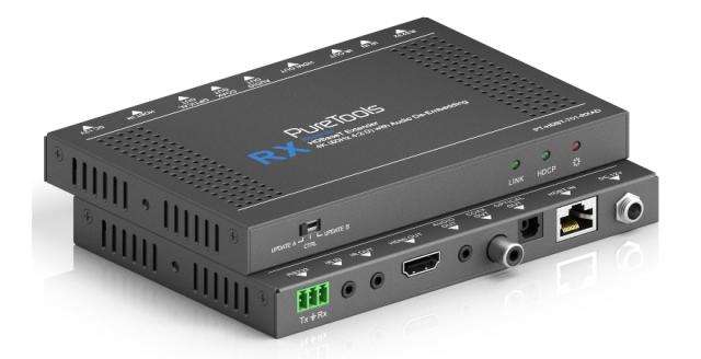 Odbiornik HDBaseT Audio Deebedding PT-HDBT-701-RXAD